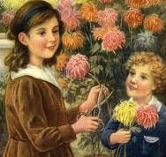 Montessori Cutting Flowers Activity