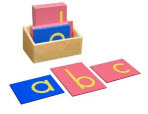 Montessori Sandpaper Letters Lower Case
