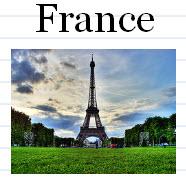 European Landmarks Flash Cards