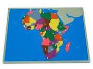 Montessori Puzzle Map Africa