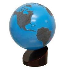 Montessori Sandpaper Globe