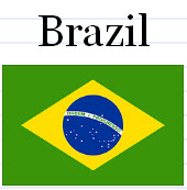 South American Flags Flash Cards
