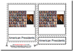 American Presidents Flash Cards