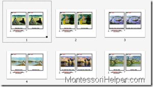 Montesori Art Cards