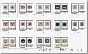 Montessori Nomenclature Cards Precious Stones