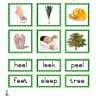 "Montessori Materials Green Series Consonant Spelling ""ee"", Age 3 to 6"
