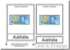 Montessori Oceanic Currencies Age 3 to 6 Full Size
