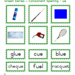 "Montessori Language Materials Green Consonant ""ue"", Age 3 to 6.pdf"