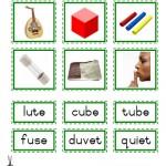 """Montessori Language Materials Green Consonant """"u before e"""", Age 3 to 6.pdf"""