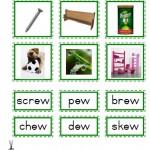 "Montessori Language Materials Green Consonant ""ew"", Age 3 to 6.pdf"