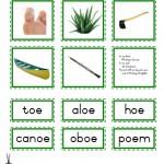 """Montessori Language Materials Green Consonant """"oe"""", Age 3 to 6.pdf"""