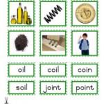 """Montessori Language Materials Green Consonant """"oi"""", Age 3 to 6"""