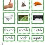 """Montessori Language Materials Green Consonant """"th"""", Age 3 to 6.pdf"""