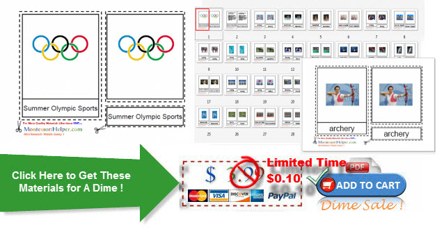 Montessori Olympic Games Materials for Ages 3-9 from Montessori Helper