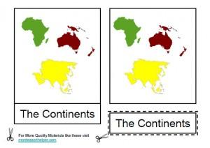Montessori Continents Materials