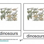 Montessori Dinosaur Nomenclatures Age 3 to 6