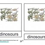 Montessori Dinosaur Nomenclatures Age 3 to 6