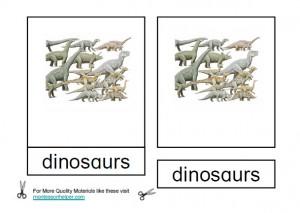 Montessori Dinosaur Materials
