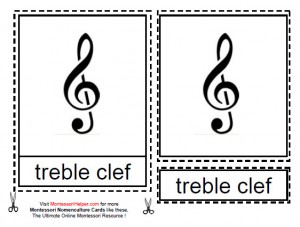 Montessori Music Notation Materials