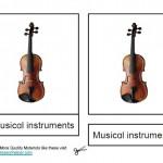 Montessori Music Materials, Musical Instrument Cards, Age 6 to 9