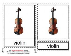 Montessori Musical Instruments Materials