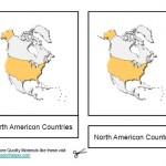 Montessori Materials North American Countries, Age 3 to 6