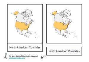 Montessori North American Countries Materials