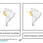 Montessori Materials South American Countries, Age 3 to 6