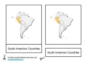 Montessori South American Materials