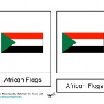 Montessori African Flags, Age 3 to 6