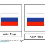 Montessori Asian Flags, Age 3 to 6