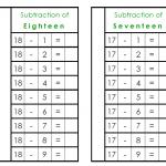 Montessori Subtraction Booklet