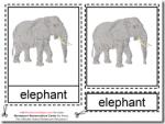 Montessori Materials – Elephant Nomenclature Cards Age 3 to 6