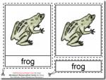 Montessori Materials – Frog Nomenclature Cards Age 3 to 6