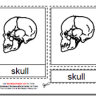 Montessori PDF Materials, Parts of the Human Skull, Age 3 to 6