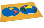 Montessori Lesson, Puzzle Map of the World, Age 3 to 6