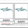 Montessori PDF Materials, Parts of the Dolphin Cards, Age 3 to 6