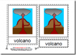 Montessori Parts of a Volcano Materials, Age 3 to 6